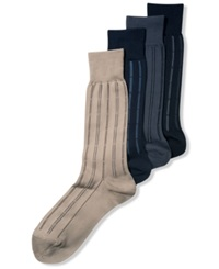 Perry Ellis Men's Socks Fine Stripe Luxury Dress Men's Socks Single Pack Navy
