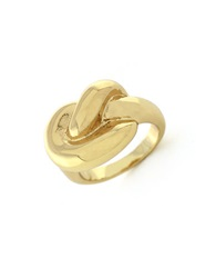 Bcbgeneration Knotted By Nature Single Knot Ring Goldtone