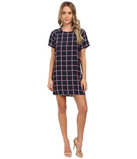 Gabriella Rocha Geometric Shift Dress Navy Women's Dress