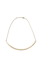 Jennifer Zeuner Jewelry Choker Chain Necklace Gold