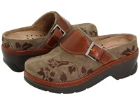Klogs Usa Austin Taupe Suede Tapestry Women's Clog Shoes