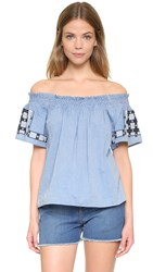 Ulla Johnson Milo Top Chambray
