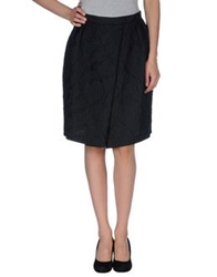 Charlott Knee Length Skirts Black