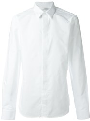 Givenchy Cross Embroidered Shirt White