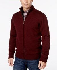 Weatherproof Vintage Men's Big And Tall Lined Zip Front Cardigan Only At Macy's Port