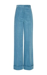 Trademark Light Blue Melanie Corduroy High Waisted Pant