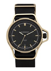 Givenchy Seventeen Gold Plated Stainless Steel Watch Black