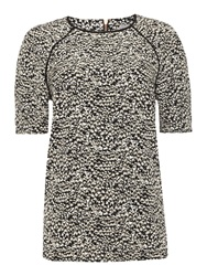 Mary Portas Printed Nina Step Hem Top Graphite