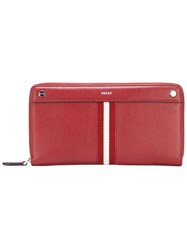 Bally All Around Zip Wallet Red