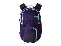The North Face Pocono Garnet Purple Surf Green Backpack Bags