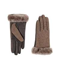 Ugg Shorty Smart Fabric Gloves W Short Pile Trim Seal Multi Extreme Cold Weather Gloves Brown