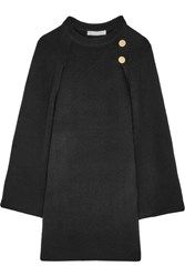 Vanessa Bruno Cape Back Wool And Cashmere Blend Mini Dress Black