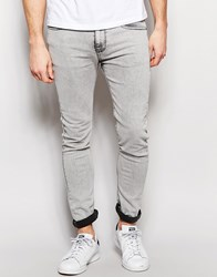 Pull And Bear Pullandbear Super Skinny Jeans In Acid Wash Grey Grey
