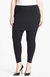 Eileen Fisher Skirted Leggings Plus Size Black