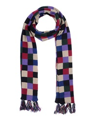 Hackett Oblong Scarves Purple