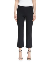 Cinq A Sept Onyx Flare Leg Cropped Pants Black