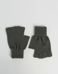 Asos Fingerless Gloves In Grey Grey