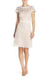 Women's Tadashi Shoji Embroidered Tulle Fit And Flare Dress