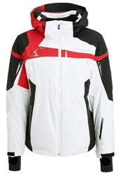 Spyder Titan Ski Jacket White Black Red