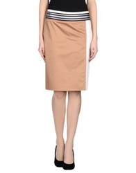 Blue Les Copains Knee Length Skirts Brown