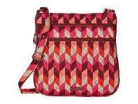 Vera Bradley Triple Zip Hipster Bohemian Chevron Cross Body Handbags Multi