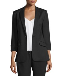 Elizabeth And James Alex Stretch Crepe Blazer Black