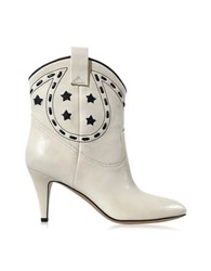 Marc Jacobs Ivory Leather Cowboy Boot