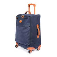 Bric's Life Carry On Zipper Suitcase Blue Tan 65Cm