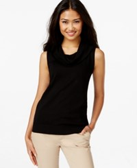 Joseph A Sleeveless Cowl Neck Sweater Black