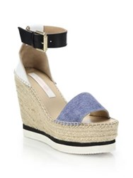 See By Chlo Glyn Chambray Espadrille Wedge Platform Sandals