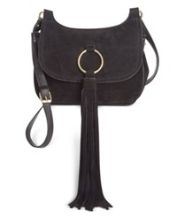 Inc International Concepts Sianna Saddle Crossbody Only At Macy's Black