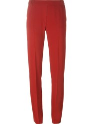 Maison Martin Margiela Mm6 Maison Margiela Classic Slim Fit Trousers Red