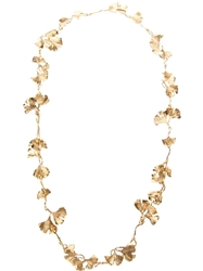 Aurelie Bidermann Long 'Tangerine' Necklace Metallic