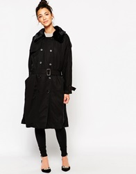 The Whitepepper Classic Duster Coat Black
