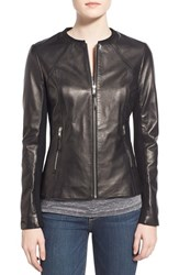 Women's Soia And Kyo Slim Fit Zip Front Leather Jacket