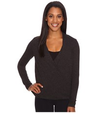 Lucy Mat To Meeting Long Sleeve Black Heather Women's Blouse