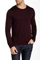 John Varvatos Jersey Sheen Long Sleeve Crewneck Sweater Red