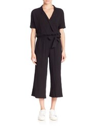Stateside Cotton Cropped Jumpsuit Black