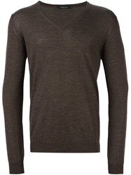 Roberto Collina Classic Sweater Brown