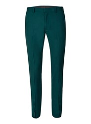 Topman Green Teal Jersey Ultra Skinny Fit Suit Pants