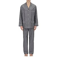 Barneys New York Men's Striped Pajamas Black White Blue Black White Blue
