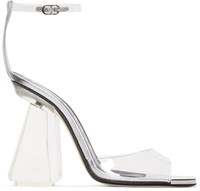 Loewe Silver Leather And Acrylic Sandals
