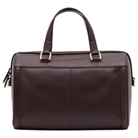 Reiss Enzo Boxy Leather Tote Burgundy