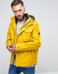 Timberland 3In1 Ragged Mountain Jacket Detachable Inner Fleece Jacket In Yellow Nugget Gold