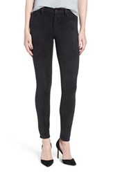 Joe's Jeans Women's 'Icon' Faux Suede Ankle Skinny Pants Onyx