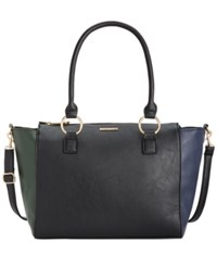 Rampage Satchel Only At Macy's Black Navy Evergreen