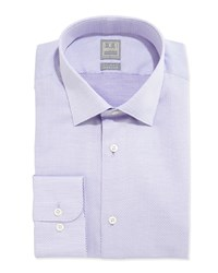 Ike Behar Textured Solid Dress Shirt Lavender Purple