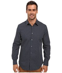 Perry Ellis Regular Fit Non Iron Mini Floral Print Shirt Eclipse Men's Long Sleeve Button Up Olive