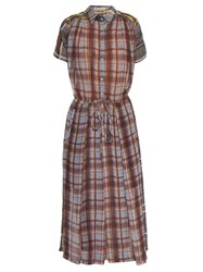 Preen Line Checked Short Sleeved Crepe Shirtdress