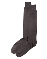 The Men's Store At Bloomingdale's Cotton Blend Full Length Dress Socks Charcoal